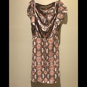 Pink snakeskin dress